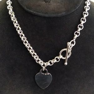 VINTAGE NOS Sterling Silver Rolo Chain Heart Charm
